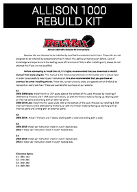 Installation Instructions | Revmax Converters