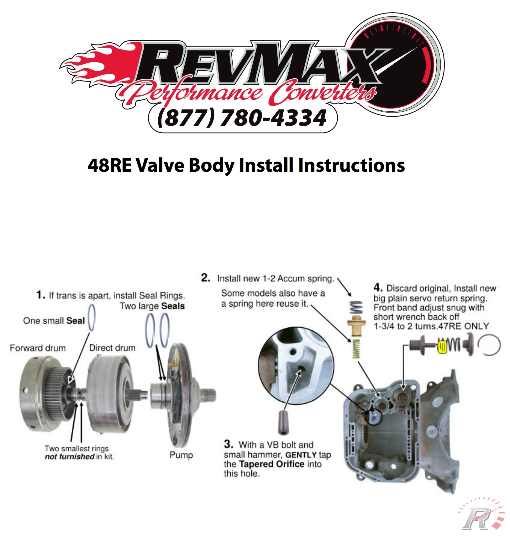 47rh Manual 48re Throttle Valve Actuator Wiring Diagram Array Body Install Instructions Revmax Converters Rh Revmaxconverters